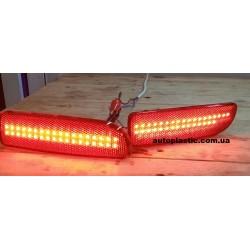 Катафоты заднего бампера ваз 2170 (светодиодные,с подсветкой)